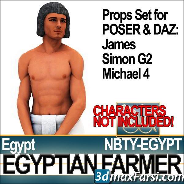 TurboSquid – Props Set Poser Daz for Ancient Egyptian Farmer