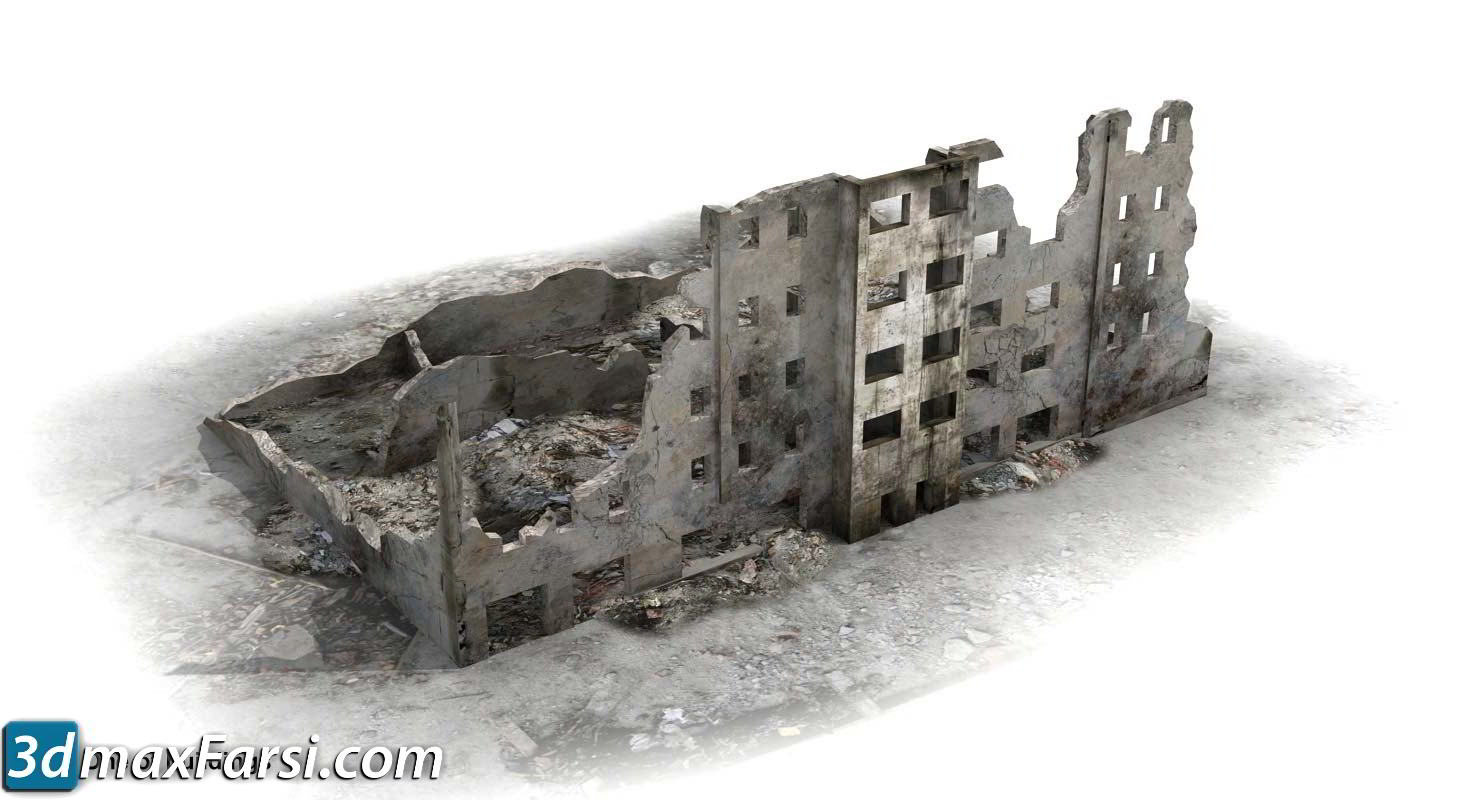 TurboSquid – Ruined City Warsaw WW2 1945 3D-Models free download