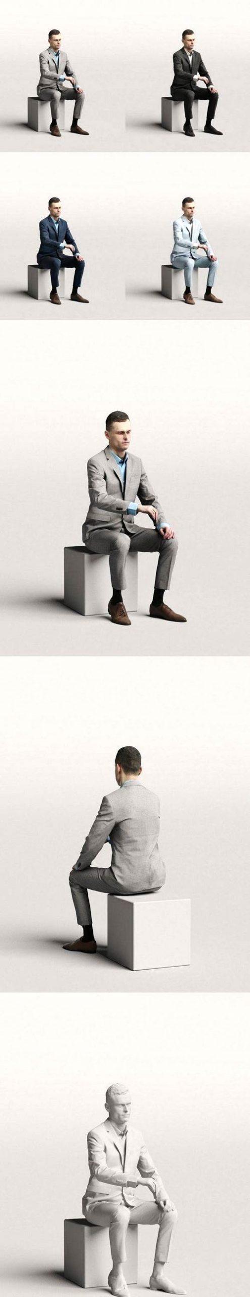 Elegant business man sitting and typing 0117 free download