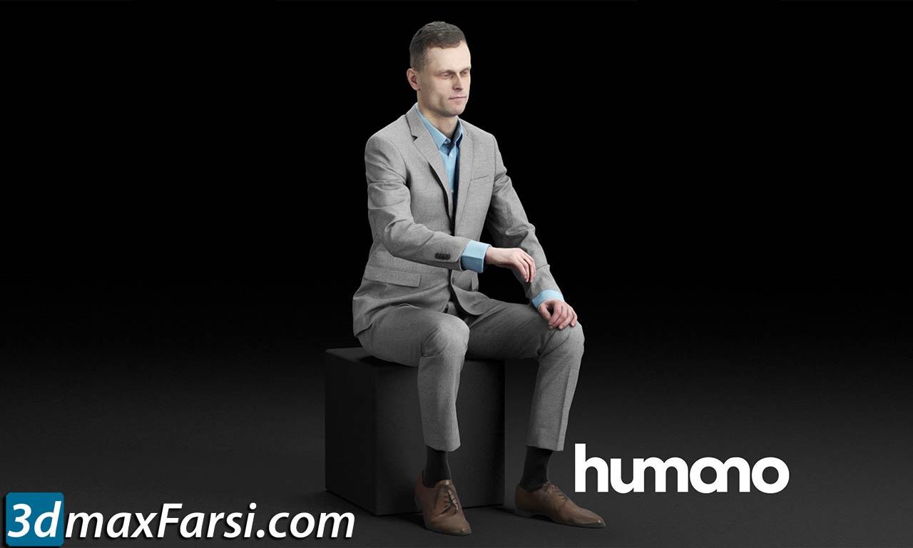 Humano Elegant business man sitting and typing 0117 free download