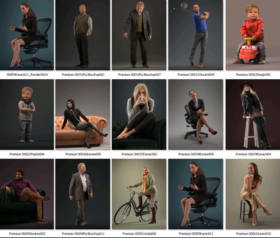 Human Alloy Premium 3D-People Collection free download
