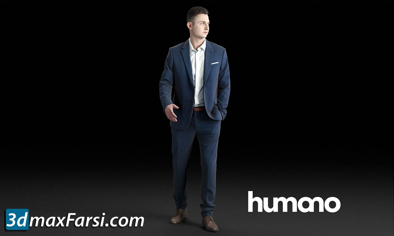 Humano Elegant business man in a suit walking 0102 free download