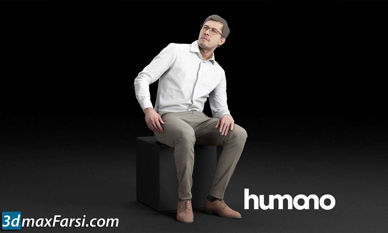 Humano Elegant business man in shirt sitting and looking 0115 free download