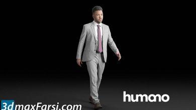 Humano Elegant Man Walking and talking 0302 free download