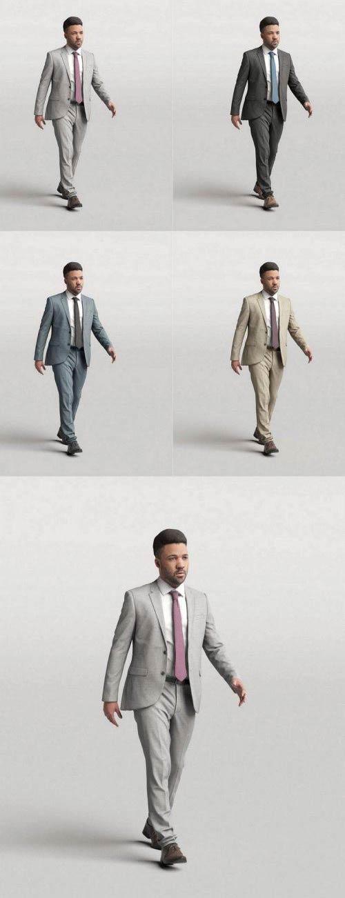 Elegant Man Walking and talking 0302 free download