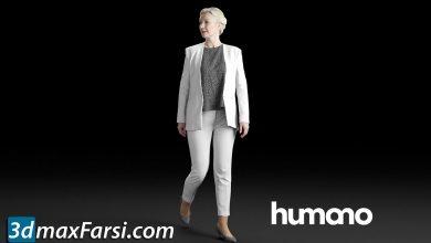 Humano Elegant woman walking and looking back 0306 3D model free download