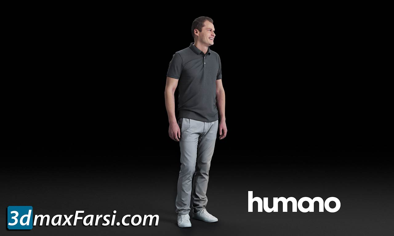 Humano Man standing and looking 0519 (Vray, Corona) free download