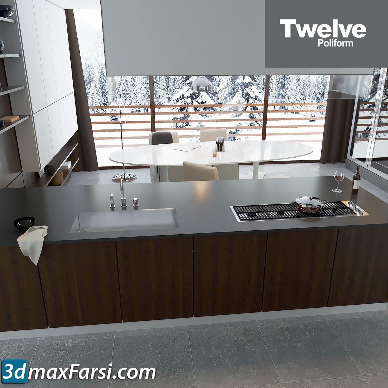 Kitchen Poliform Varenna Twelve vray corona free download