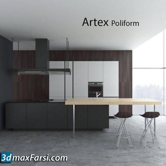 Kitchen set by Poliform Artex Varenna free download
