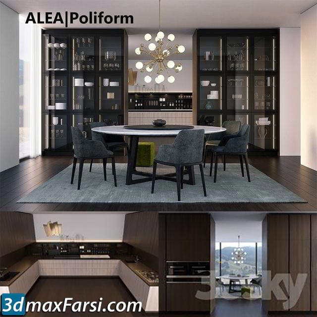 Kitchen set by Poliform Varenna Alea free download