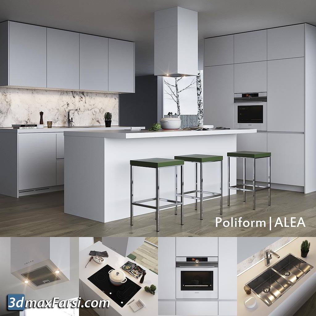Modern kitchen Poliform Varenna Alea free download