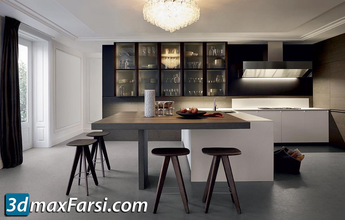 Trail kitchen set by Poliform Varenna free download