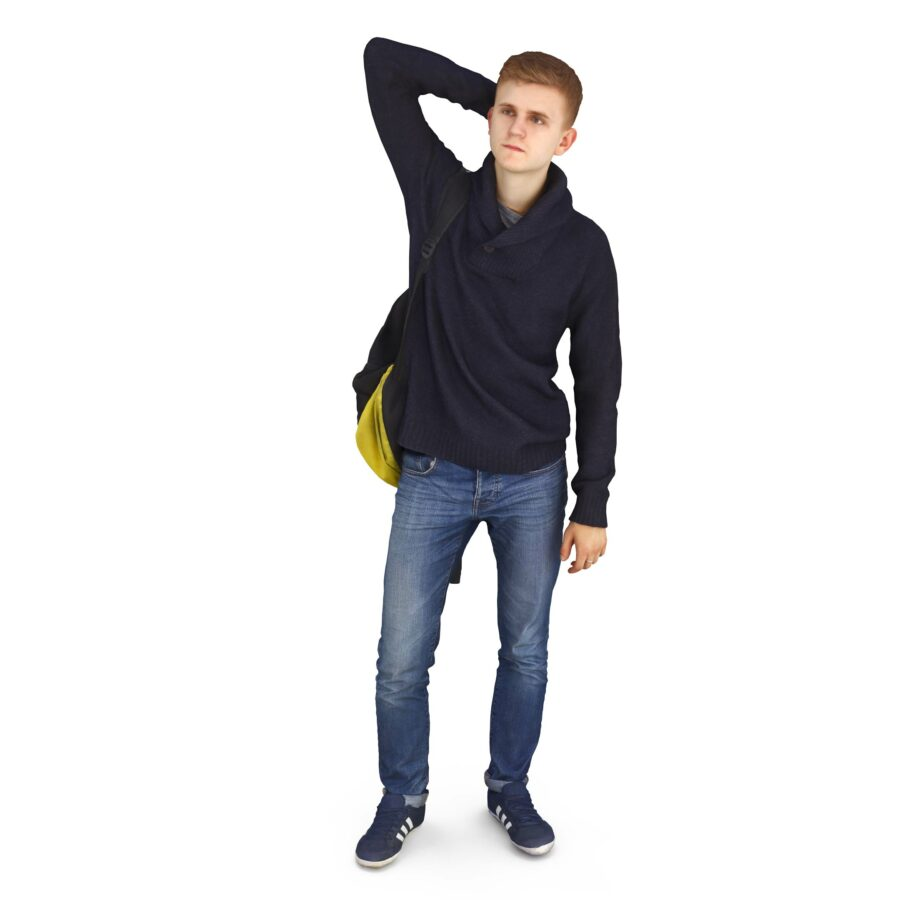 3d models of Casual man standing free download
