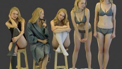 Anastasia Sexy Pose 3D model free download