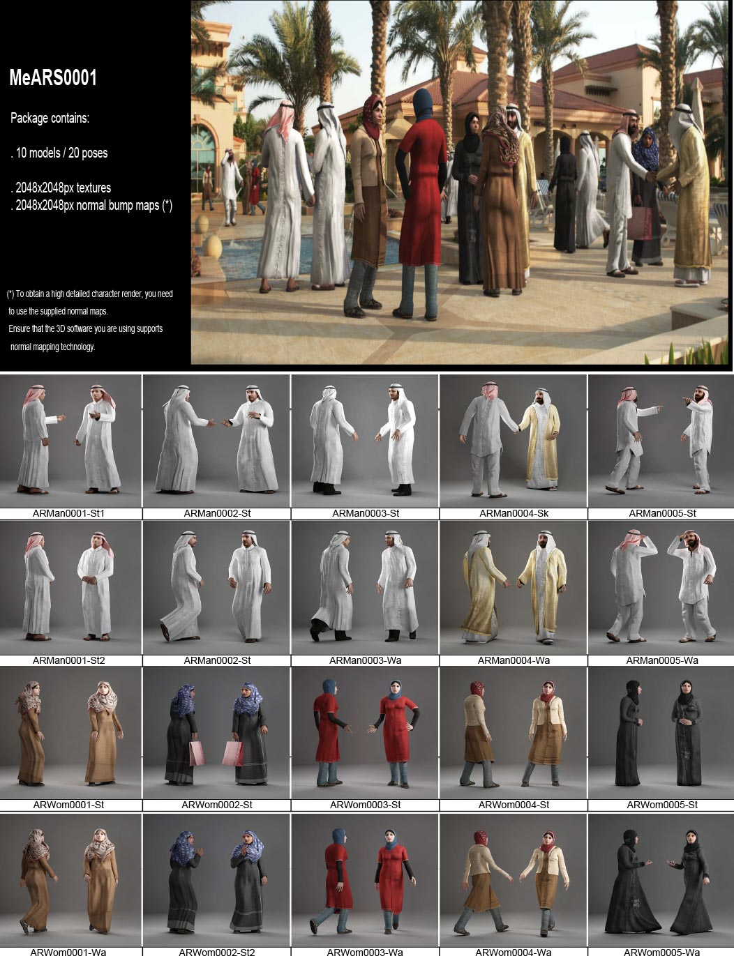 AXYZ Design – Arab People 3d models Collection free download