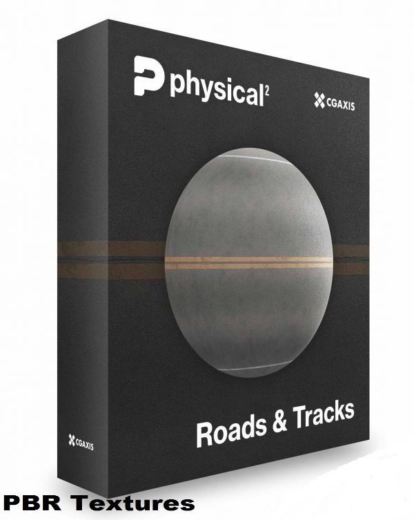 CGAxis – Roads PBR Textures – Collection Volume 24 free download