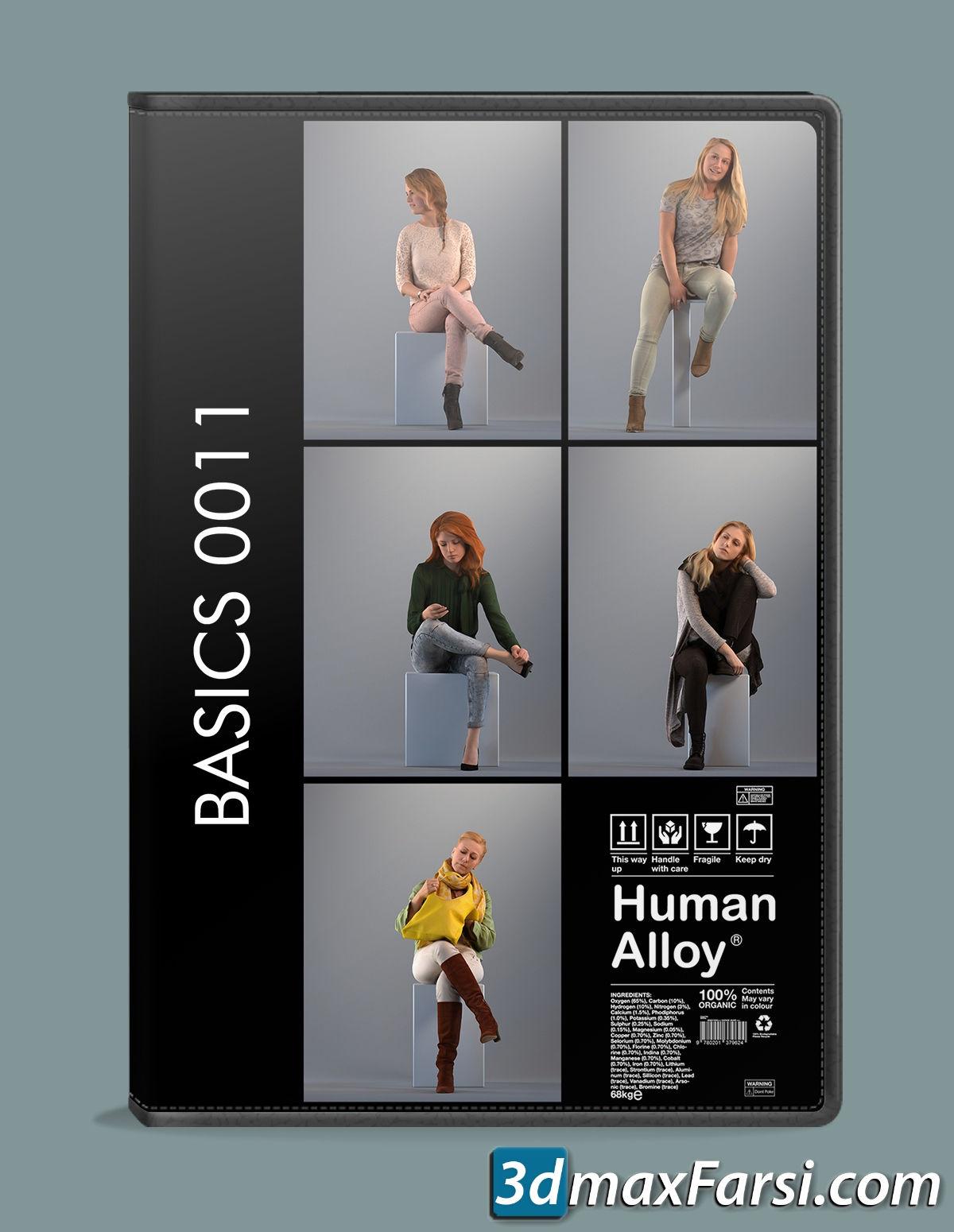Human Alloy Basics 3D-People Collection .fbx, .max, .obj, .skp