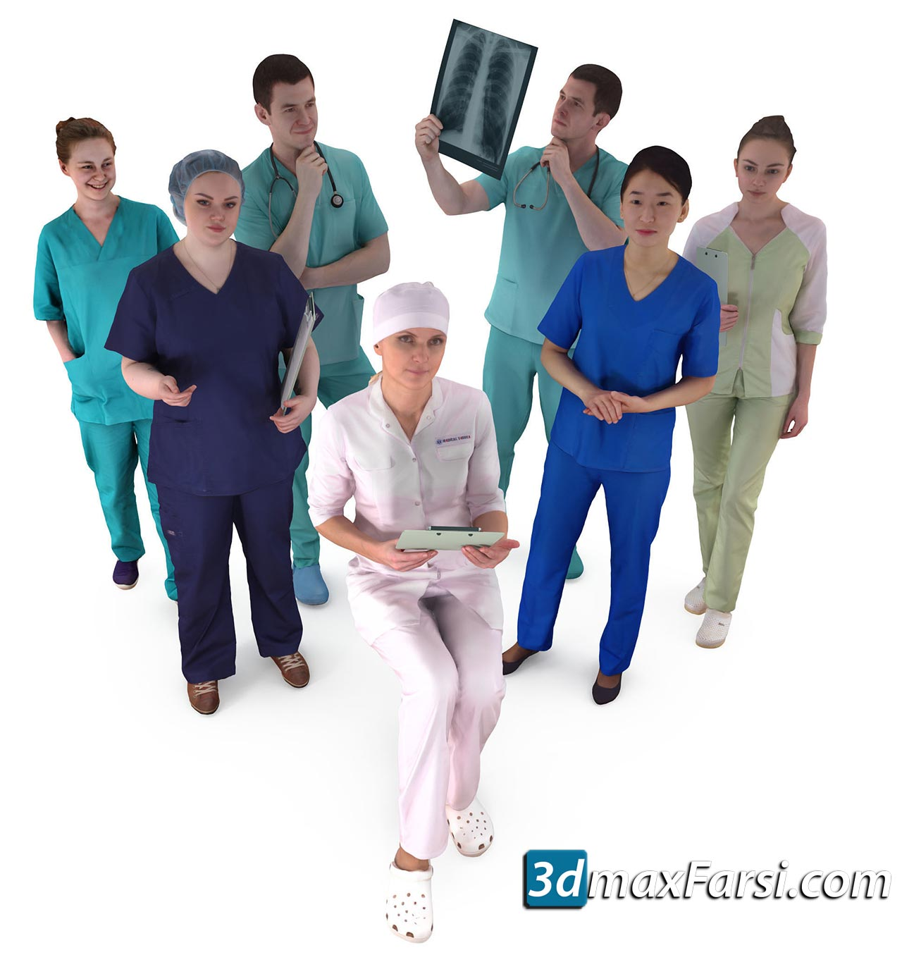 Medical Collection x7 3D Model 2018 free download