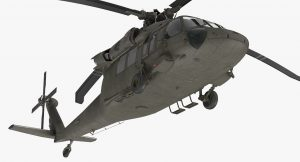turbosquid Sikorsky UH-60 Black Hawk US Military Utility Helicopter