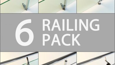 Turbosquid 6 Railing Pack free download