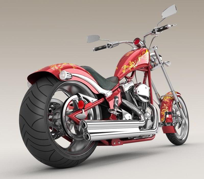 TurboSquid big dog k9 chopper motorcycle 3d model free download
