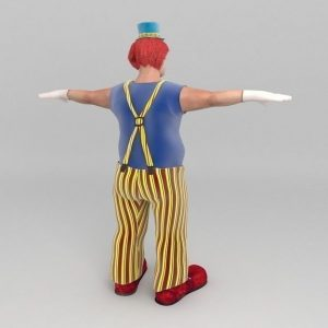 TurboSquid Bobby The Clown free download .max, .obj, .fbx, .c4d