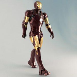 TurboSquid Iron Man Rigged 3ds max
