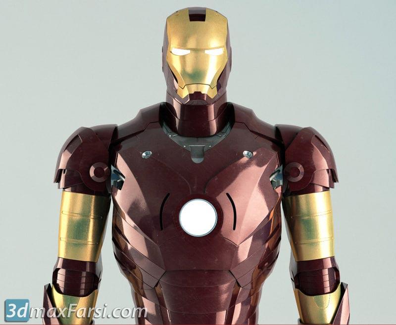 TurboSquid Iron Man Rigged free download