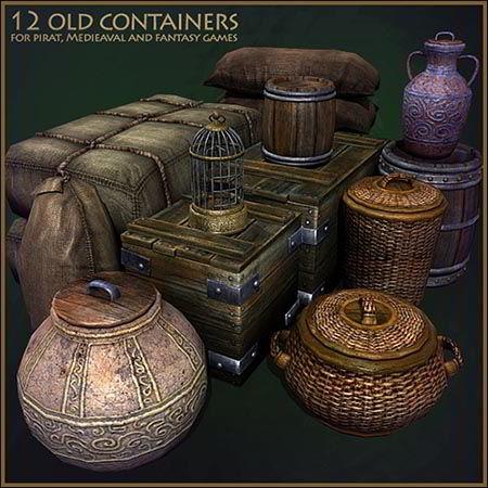 TurboSquid Medieval Container Set free download
