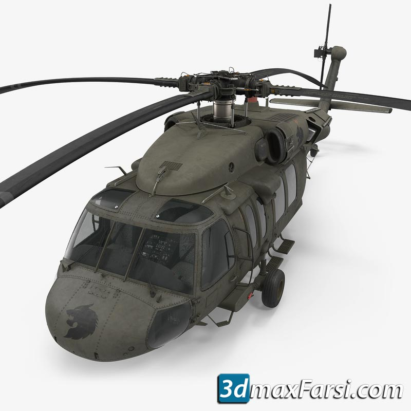 turbosquid Sikorsky UH-60 Black Hawk US Military Utility Helicopter free download