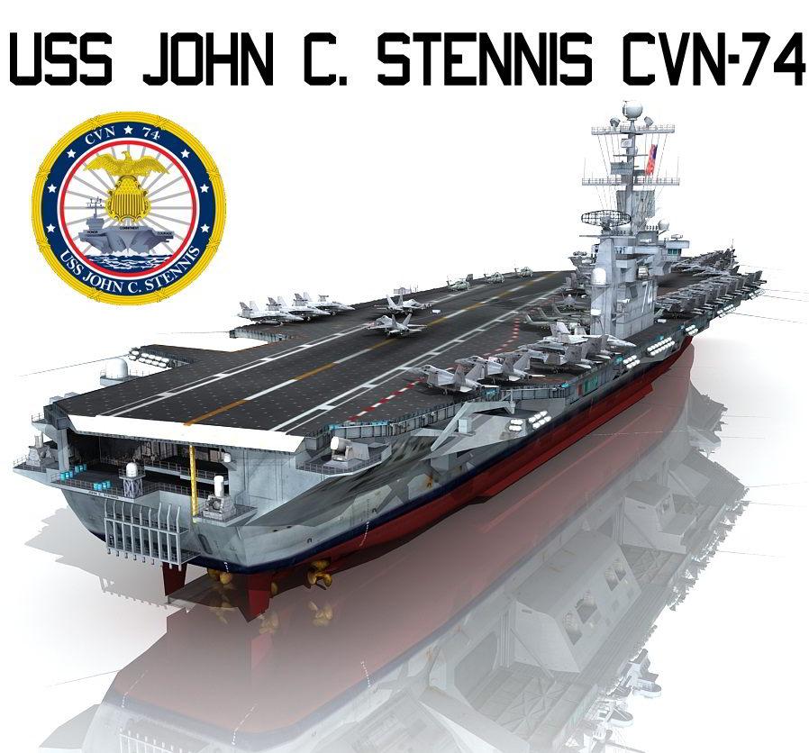 TurboSquid USS John C Stennis CVN-74 free download