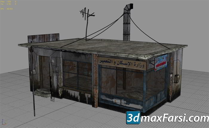 25 Afghanistan City Buildings Props for Games Low-poly 3D Model free download