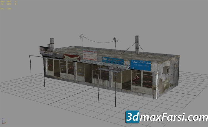 25 Afghanistan City Buildings Props for Games Low-poly 3D Model