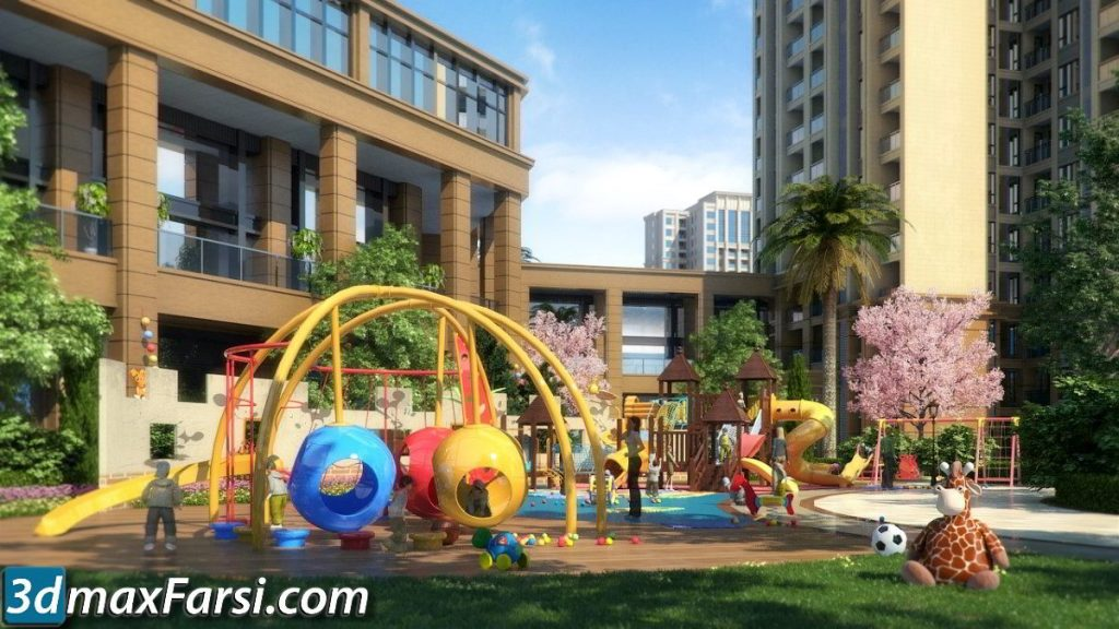 3d ANIMATION EXTERIOR ( 3DSMAX AND VRAY ) kids free download