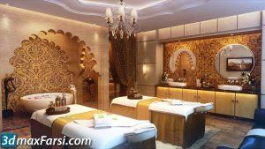 Massage salon 3d animation interior (3ds max + V-ray) 2020