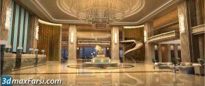 Lobby 3d animation interior (3ds max + V-ray) 2020