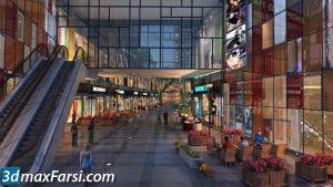 Corridor, path 3d animation interior (3ds max + V-ray) 2020