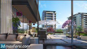 Premium apartments 3d animation interior (3ds max + V-ray) 2020