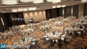 wedding 3d animation interior (3ds max + V-ray) 2020