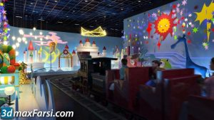 Kindergarten 3d animation interior (3ds max + V-ray) 2020
