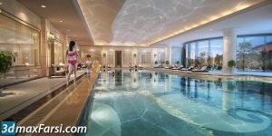 Swimming pool 3d animation interior (3ds max + V-ray) 2020
