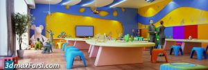 Children's playroom 3 d animation interior (3ds max + Vray) 2020