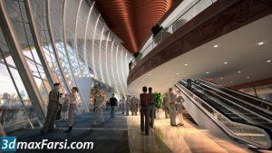 Corridor 3d animation interior (3ds max + V-ray) 2020