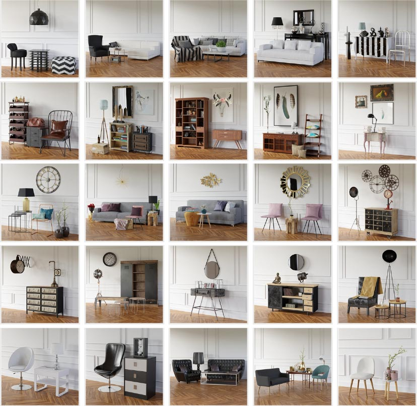 9,000 3d models library (3ds max + Vray)