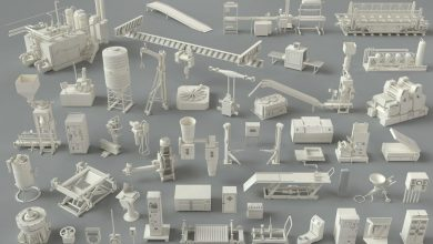 Cgtrader – Factory Units-part-3 – 49 pieces 3D model free download