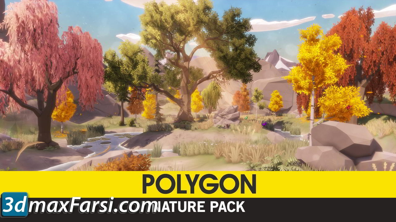 Cgtrader – POLYGON – Nature Pack Low-poly 3D model free download