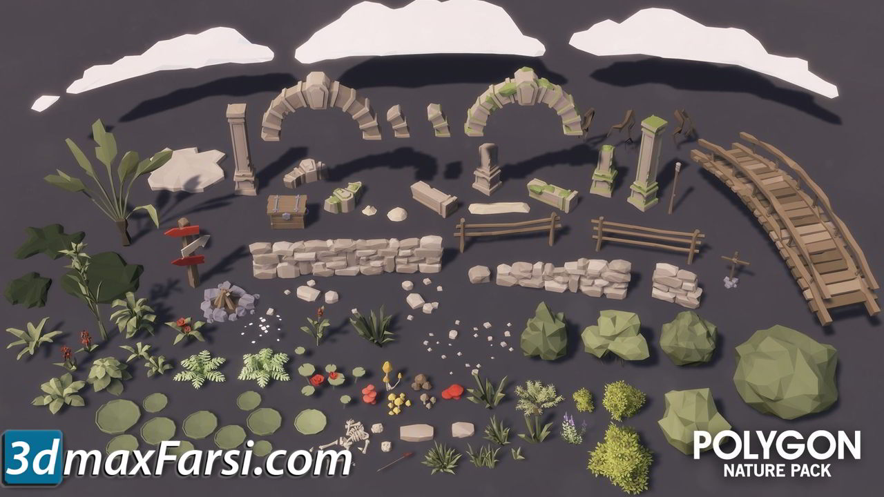 Cgtrader – POLYGON – Nature Pack Low-poly 3D model