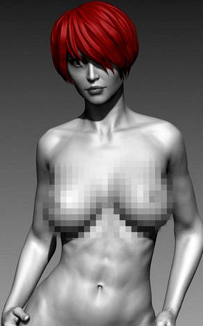 Sexy Posed Woman 9 Zbrush HD free download