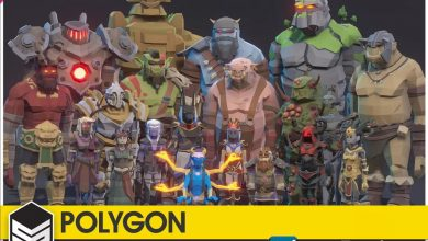 Cgtrader – POLYGON – Fantasy Rivals Pack Low-poly 3D model free download