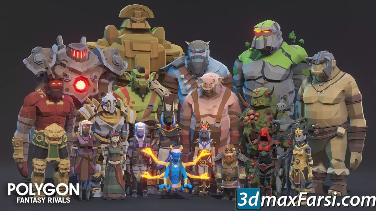 POLYGON Fantasy Rivals - Low Poly 3D Art by Synty free download